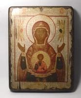 Икона под старину  Знамение Б.М. 01