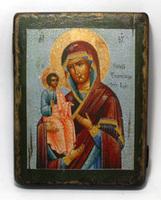 Икона под старину Б.М. Троеручница