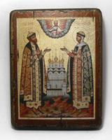 Икона под старину  Св.Чуд. Пётр и Феврония