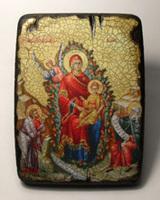 Икона под старину Неопалимая Купина (нетрадиционная)