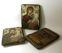 Икона под старину  Божией Матери Владимирская в красном