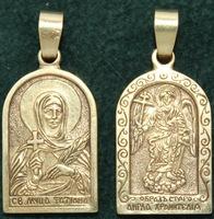 Нательная икона Татьяна бронза