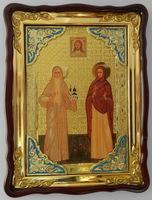 Варвара и Елизавета  в киоте  икона