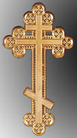 Крест ажурный средний без распятия