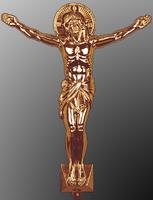 Распятие большое православное золотистое