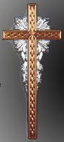 Крест с узором погребельный